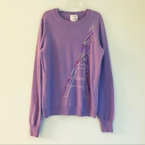 NWT Crewcuts Sweater With Sequin Eiffel Tower